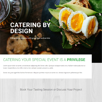 catering divi design
