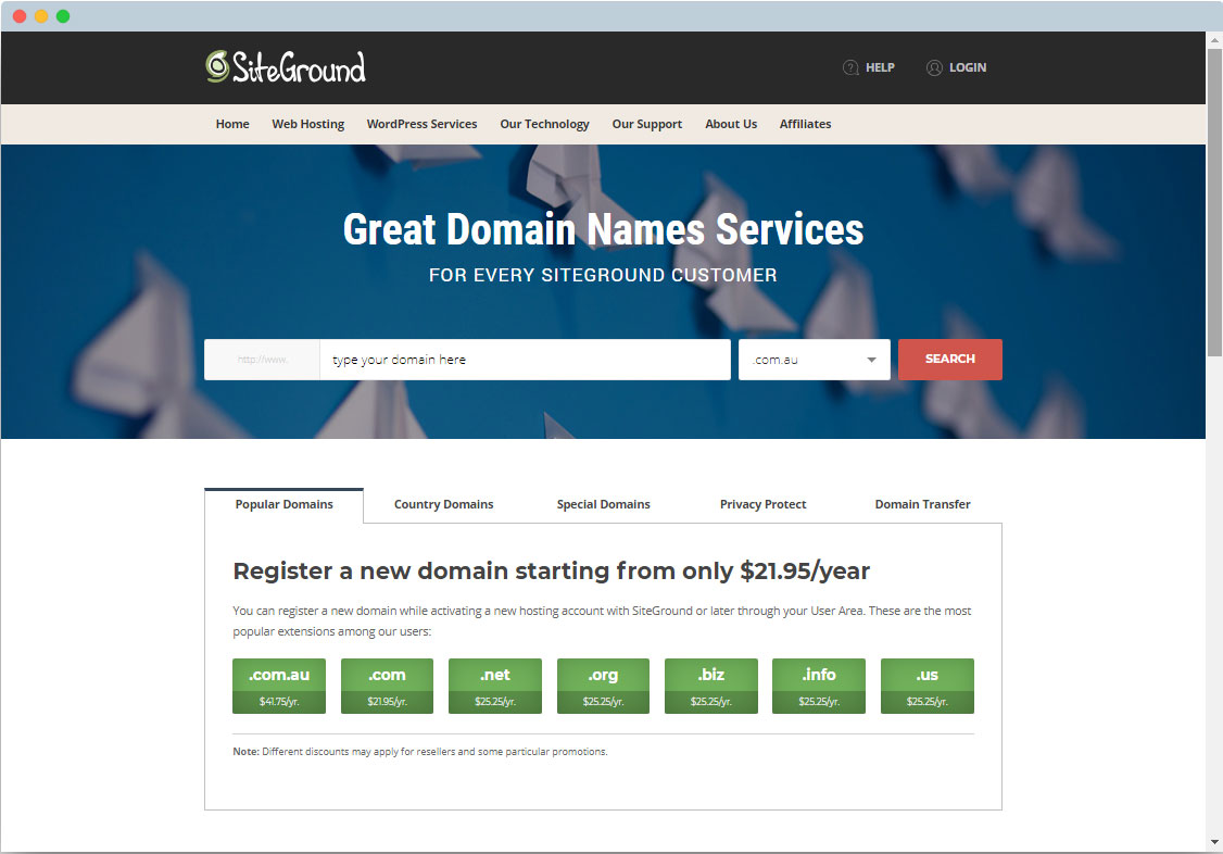 Buy a web domain Samford